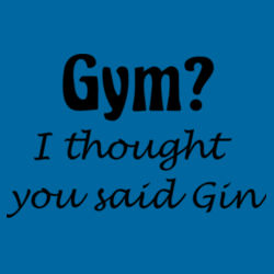 Gym/Gin T Shirt Design
